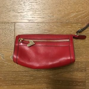 Cole Haan Red Leather Wristlet